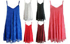 NEW LADIES FLORAL LACE CAMISOLE TOP STRAPPY SKATER SWING DRESS PLUS SIZE 6-20