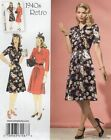 Simplicity 1587 SEWING PATTERN 14-22 FAB Retro Vintage Belted Dress 1940s WWII
