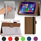 NEW For Lenovo MIIX 3 8 Windows Tablet (7.85-inch) PU Leather Case Cover Stand