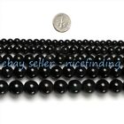 """Black Obsidian Natural Stone Round Beads For Jewelry Making Gemstone 15"""" In Bulk"""