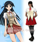 School Rumble Yagami High School Girls Summer Uniform Cosplay Costume FREE P&P