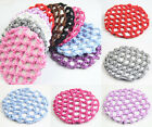 Bun Cover Snood Hair Net Ballet Dance Skating Crochet Beautiful Colors Girl 1pcs
