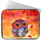 "Owl 11 13 15"" Laptop Neoprene Sleeve Case Bag Cover For Macbook Air Pro Acer HP"