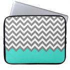 "Gray Waves 11"" 13"" 15"" Laptop Neoprene Waterproof Sleeve Case Soft Bag Cover"