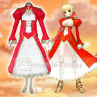 Fate/stay night Saber Red Dress Cosplay Costume Full Set FREE P&P