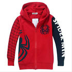 New Spider Man Clothes 2Y-8Y Kids Boys Sweatshirt Hoodies Jacket Coat Outwear