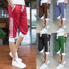 Fashion Men Casual Summer Soft Cotton Shorts Pants Gym Sport Jogging Trousers