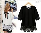 NEW Fashion Ladies Blouse Women's Chiffon Tops Plus Size Clothing Loose Skirt
