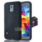 For ZTE Speed SERIES Hybrid Rubber Hard Net Mesh Case Cover Colors
