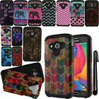 For Samsung Galaxy Avant G386T Dual Layer HYBRID HARD BACK Case Cover + Pen
