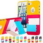 Colorful Mondrian Shutters Series Hard Case with Adjustable Stand for iPhone 5