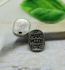"""50/150pcs Fashion exquisite tags letters """"MADE WITH LOVE"""" charm pendant"""