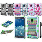 For Samsung Galaxy Note Edge N915 TUFF KICKSTAND HYBRID Rubber Case Cover + Pen