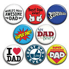 I Love DAD - Badges, Father's Day Button Badge, 25mm 1 inch - Super Dad Best Dad