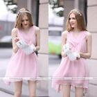 Fashion Women Maternity Sleeveless Loose Casual Summer Chiffon Mini Dresses