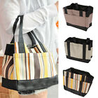 Practical Nylon Stripe Small Handbag Tote Lunch Bags Pack Lunch Box Package
