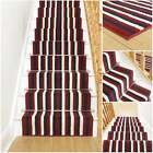 Broad 4 Red & Blue - Stripe Stair Carpet Runner For Narrow Staircase Modern New