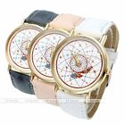 Women Dreamcatcher Feather Round Case Pu Leather Analog Dial Quartz Wristwatch