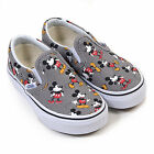 Vans Kids Disney Classic Slip-On Canvas Mickey Mouse Frost Grey