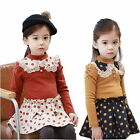 Girls Kids Polka Dots Top Tutu Dress Princess Ages 2-7Y Party Clothing 2 Colors