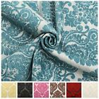 HEAVY WEIGHT VELVET CHENILLE FLORAL DAMASK DFS SOFA CUSHION UPHOLSTERY FABRIC