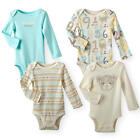Koala Baby Neutral 4 Pack Long Sleeve Lap Shoulder Bodysuits