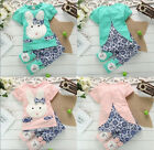 1-3 Years New Baby Kids Cute Rabbit Top+Short Pants Set Clothes Baby Outfit
