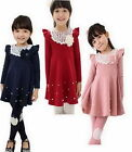 Girls Kids Dresses Clothes 1Pcs Set 2-7Y Baby Princess Skirt Long Sleeve Costume