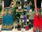 GYPSY SKIRT - LONG SUN SUMMER SKIRT- BOHO, HIPPY - FLOWER MIX
