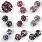 5pcs Pack AB Crystal Studded Disco Ball Round Loose Bead For Jewelry Making DIY
