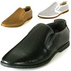 GBX Mens Slip On Loafers Double Gore Lounge Moccasins Comfort Shoes Krown 13524