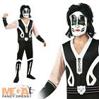 Mens Kiss 'Catman' Fancy Dress Costume Halloween Celebrity Music Rock Outfit