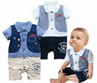 Boys Kids Baby Outfit Formal Romper Pants Jumpsuit 0-24M 1pcs Summer Clothes NWT