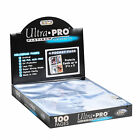 25 ULTRA PRO Postcard 4-POCKET Pages 3x5 Sheets Protectors Brand New