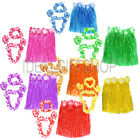 HAWAIIAN SKIRT AND LEI FANCY DRESS HAWAII BEACH FIVE PIECE THEMED ACCESSORY KIT