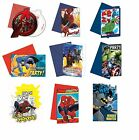 MARVEL/DC PARTY INVITATIONS (With Envelopes) (Kids/Birthday/Partyware)