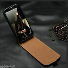 Real Genuine New Leather Flip Case Pouch Cover For Samsung Galaxy S4 Mini