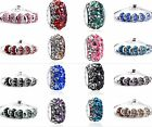 Lots 5pcs Gorgeous Czech Crystal Rondelle Bead For European Charm Bracelet