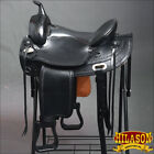 "DF200BK HILASON DRAFT HORSE WESTERN TRAIL ENDURANCE SADDLE 15"" 16"" 17"" 18"""