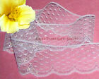 "4 Yd Lace Trim White Iridescent 2-1/8"" Scalloped J53V Added Items Ship No Charge"