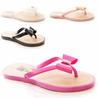 LADIES WOMENS DIAMANTE JELLIES FLAT SUMMER BEACHWEAR CASUAL HOLIDAY SHOES SIZE