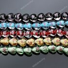 1 Strand Heart Love Foil Lampwork Glass Rose Flower Loose Beads Jewelry DIY 15mm