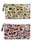 New Authentic GUCCI Cheetah Print Leather Pouch Clutch Bag w/Bamboo Large 338815