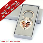 Personalised PHOTO or TEXT Resin DOMED Customised Key Ring Customisable Keyring