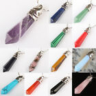 Mix-Stone Amethyst Turquoise Opal Agate Hexagon Faceted Gem Bead Pendant 1 PCS