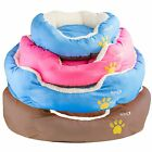 Babz Soft Comfy Fabric Washable Dog Pet Cat Warm Basket Bed with Fleece Lining