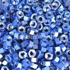 Blue Anodised Alloy Hex Nut - Choice Of Size Metric M4 M5 M6
