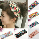 Women Flower Headband Hair Band Turban Twisted Knotted Yoga Head Wrap 9 Colors