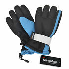Kid's Boys Winter Warm Sports Waterproof Ski Snow Gloves Snowboard