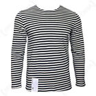 Black Long Sleeve TELNYASHKA Vintage Weave RUSSIAN Striped T-Shirt All Sizes
